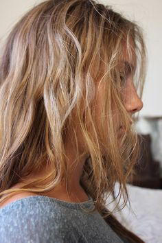 Beach Hair :: Natural Waves :: Long + Blonde :: Summer Highlights :: Messy Manes :: Free your Wild :: See more DIY Easy Hairstyle Inspiration @loverofficial