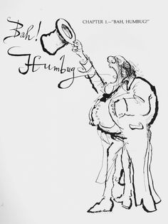 "Humbug"" Scrooge by Ronald Searle. Illustration to A Christmas Carol by Charles Dickens (World Publishing) Magazine Illustration, Illustration Sketches, Ronald Searle, Ebenezer Scrooge, Art Inspiration Drawing, Pen Sketch, Christmas Carol, Xmas, Christmas Illustration"