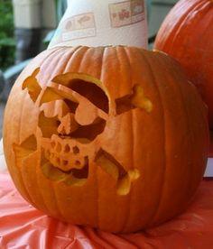 ☆ Pirate Skull Pumpkin ☆