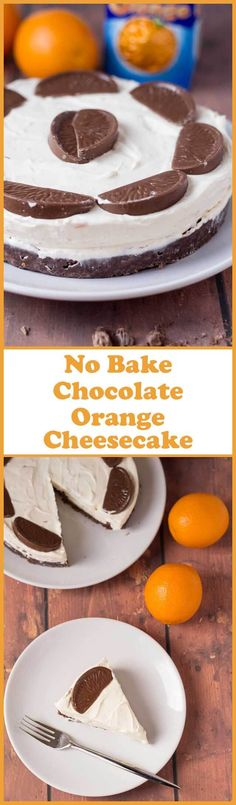 No bake chocolate orange cheesecake. Smooth and luxurious; delicious and indulgent but remarkably simple to make. Perfect for Christmas or dinner parties! via @neilhealthymeal