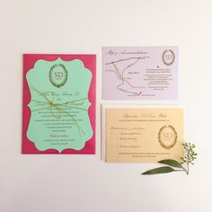 laduree inspired wedding invitations from Calgary wedding planner Evelyn Clark Weddings | created by Plush Invitations