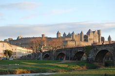 Medieval city of Carcassonne, Aude, France.