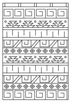 Inca Pattern coloring page from Inca Art category. Select from 24848 printable crafts of cartoons, nature, animals, Bible and many more. Pattern Coloring Pages, Free Printable Coloring Pages, Colouring Pages, Coloring Sheets, Coloring Books, Doodle Patterns, Zentangle Patterns, Inka Tattoo, Inca Art