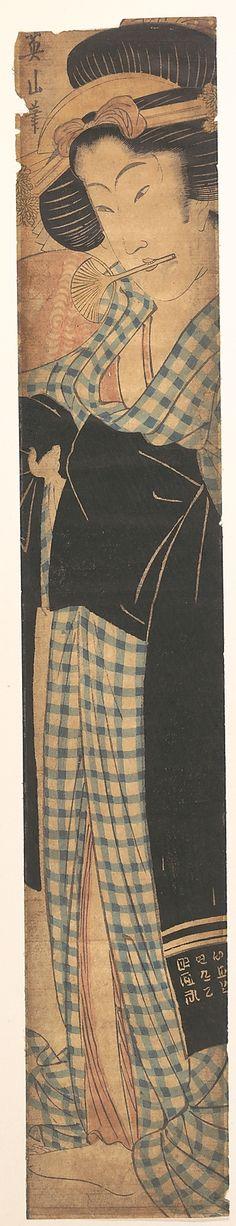 Two Geisha  Kikugawa Eizan  (Japanese, 1787–1867)  Period: Edo period (1615–1868) Culture: Japan Medium: Polychrome woodblock print; ink and color on paper