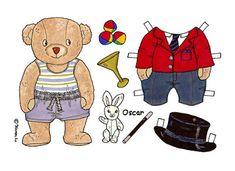 Karen`s Paper Dolls: Oscar 1-3 Paper Doll in Colours. Oscar 1-2 påklædningsdukke…