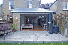 Single Storey Extension Wrap Around Extension Veranda, House Extension Plans, Cottage Extension, House Extension Design, Extension Designs, Extension Ideas, Wraparound Extension, Single Storey Extension, Side Extension
