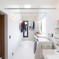 Mudroom Laundry Room, Laundry Room Design, Laundry In Bathroom, Outdoor Laundry Rooms, Küchen Design, House Design, Drying Room, H & M Home, Paint Colors For Living Room