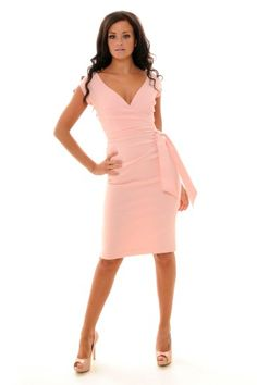 Blush Pink Hourglass Vintage Wiggle Pencil Dress... in black maybe....