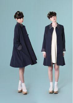 Polka dot swing coat