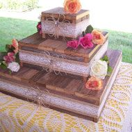 On Sale Wedding cake stands rustic cupcake stand by primitivearts