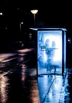 "go-beautifuleyes: ""Blue Valentine "" Night Photography, Street Photography, Art Photography, Photography Lighting, Couple Photography, Nocturne, Neon Noir, Image Film, Neon Nights"
