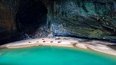 A Cave with A Beach