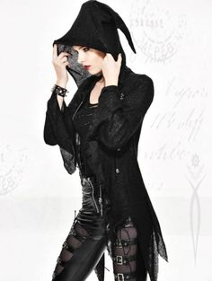 Gothic Asymmetric Hooded Sweater