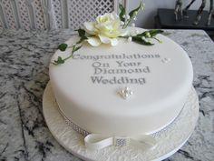 diamond wedding cakes - Google Search Diamond Wedding Anniversary Cake, Diamond Wedding Cakes, 25 Anniversary Cake, Single Layer Cakes, Birthday Cakes, Cake Decorating, How To Memorize Things, Google Search, Desserts