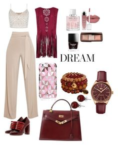 """""""Untitled #50"""" by lyneadujour on Polyvore featuring New Look, Miu Miu, Hermès, Lacoste, Lalique, Kate Spade and Jimmy Choo"""