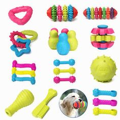 nice Rubber Pets Dog Puppy Cat Dental Teething Healthy Teeth Chew Gums Play Safe Toys