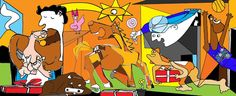 Imagenes comicas: Suck it, apple Picasso Guernica, Pablo Picasso, Spanish Art, Teaching Spanish, Oeuvre D'art, Art Education, Altered Art, Les Oeuvres, Pop Art