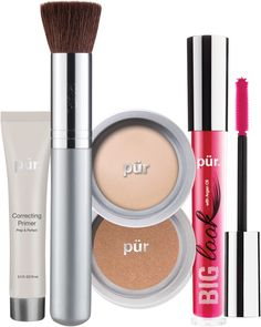 This PÜR Best Sellers Kit is your ultimate must-have beauty collection with a powder foundation, bronzer, mascara, correcting primer and a chisel brush. A $105 value! Mineral Powder, Makeup Foundation, Powder Foundation, Foundation Tips, Kit, Mens Gift Sets, Eyeshadow Makeup, Concealer, Makeup
