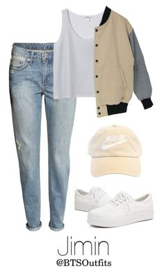 """""""Concert with Jimin"""" by btsoutfits ❤ liked on Polyvore featuring H&M and Monki"""