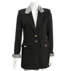 St. John By Marie Gray Black Wool Knit Blazer - $249.99