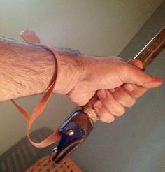 Heiltsuk - Northwest Coast fighting Dagger - showing the wrist strap attachment