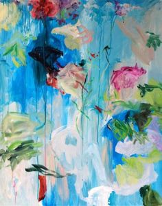 www.ompomhappy.com the art of FLORENCE NERISSON I chat to this wonderful Parisian artist about her life, work and influences #art #modernart #flowers #painting #FlorenceNerisson