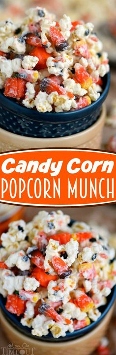 This Candy Corn Popcorn Munch is the perfect addition to any Halloween or Fall party! Easy to make and even more fun to eat! | eBay