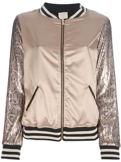 BUNGLE CHIC - sequined varsity jacket 6