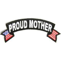 Proud Mother US Flag Rocker Patch