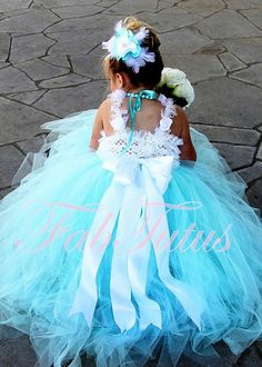 Tiffany Blue Flower Girl Dress Any Size Available by FabTutus, $100.00  @Nicky Crowley Crowley Taylor ?