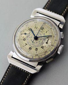 REPOST!!! NATIONAL WATCH 1940's #watch #antique #antiquewatch #vintage #vintagewatch #chronograph #landeron39 #men #menswatch #mensfashion #時計 #アンティーク #アンティークウォッチ #ヴィンテージ #ヴィンテージウォッチ #クロノグラフ #メンズ #メンズウォッチ #メンズファッション Photo Credit: Instagram ID @0616rando