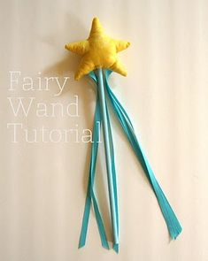 Handmade Dress Up: DIY Fairy Wand Tutorial (my daughter got a wand like this from the bookstore for her birthday a couple of years ago--I'd love to make her another!)