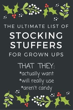 Best Stocking Stuffer Ideas for Adults – Christmas 2019 These are some of the best stocking stuffer ideas I've seen – for stuff people actually want! Lots of good ideas for men, too. Best Stocking Stuffer Ideas for Adults – Christmas 2019 Stocking Stuffers For Adults, Best Stocking Stuffers, Christmas Stocking Stuffers, Stocking Stuffers For Boyfriend, Stocking Fillers For Adults, Inexpensive Stocking Stuffers, Diy Stockings, Christmas Stockings, Winter Christmas