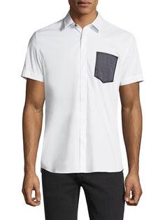 ANTONY MORATO MEN'S PATCH POCKET COTTON SPORTSHIRT - SIZE 54. #antonymorato #cloth #