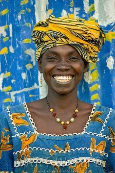 Bambara Woman, Mali >Happy<