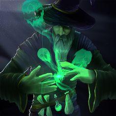 Another Wizard artwork - Necromancer this time, Rezan Gungor on ArtStation at https://www.artstation.com/artwork/bxBxd