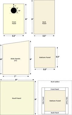 Plans for building Swallow Bird Houses