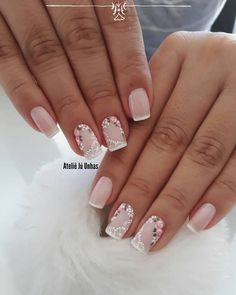 130 nail designs that are so perfect for summer 2019 page 27 nail design 2019 - Nail Desing French Nails, Gorgeous Nails, Pretty Nails, Cute Nail Art, Edgy Nail Art, Nagel Gel, Flower Nails, Nail Art Designs, Nail Design