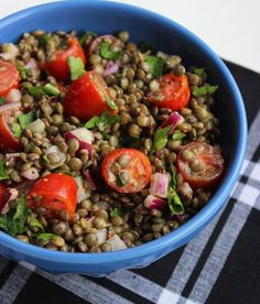 Lentil Salad With Mustard and Tomatoes