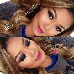 Great cut eyeshadow & face makeup