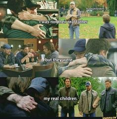 Bobby Singer: [to Dean] Family don't end with blood, boy. Winchester Boys, Winchester Brothers, Destiel, Johnlock, Bobby Singer, Supernatural Memes, Gifs, Super Natural, Superwholock