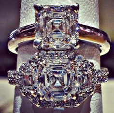 #Asschercut #diamond #engagementrings on #traditionaljewelers #instagram.