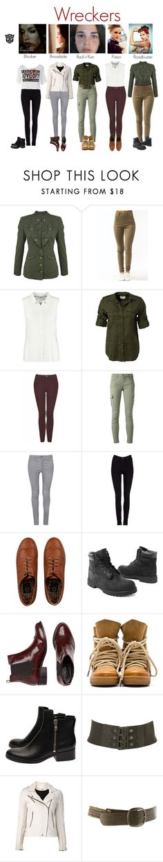 """""""Wreckers soliders"""" by femme-mecha ❤ liked on Polyvore featuring Louis Vuitton, McQ by Alexander McQueen, Vero Moda, Denim & Supply by Ralph Lauren, Topshop, J Brand, Lee, Timberland, Isabel Marant and 3.1 Phillip Lim"""