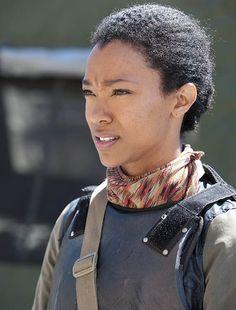 Sasha (Sonequa Martin-Green) no 1º Episódio da 4ª Temporada