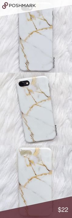 """white and gold marble iPhone 6/6s • 7 phone case sizes: iPhone 6/6s (4.7"""") iPhone 7 (4.7"""") •flexible silicone •phone not included •no trades *please make sure you purchase the correct size case. i am not responsible if you purchase the wrong size item #: 85 B-Long Boutique Accessories Phone Cases"""