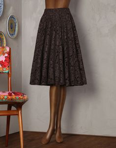 Dolce&Gabbana|F4T85T-FLMX3|Knee length skirts|Skirts