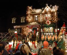 Dyker Heights Brooklyn, Christmas lights. Yes, this is a real house and is like almost every other house in Dyker Heights at Christmastime. IT's definitely something to see and something like you won't see anywhere else. Christmas - Italian style!