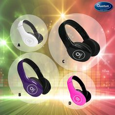 Which one would you choose to enhance your Mood? #QuantumHiTech #Headphones