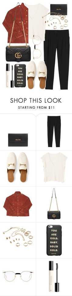 """""""Sin título #802"""" by above3600 ❤ liked on Polyvore featuring Miu Miu, Monki, Gucci, MANGO, M.Y.O.B., ban.do and H&M"""