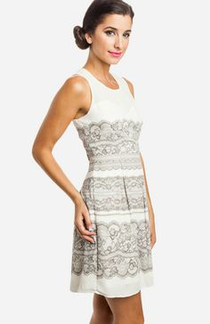 Luxe Lace Print Dress